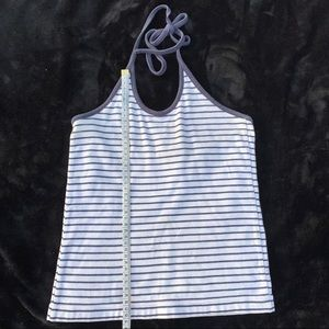 Polo jeans white and blue stripped halter top